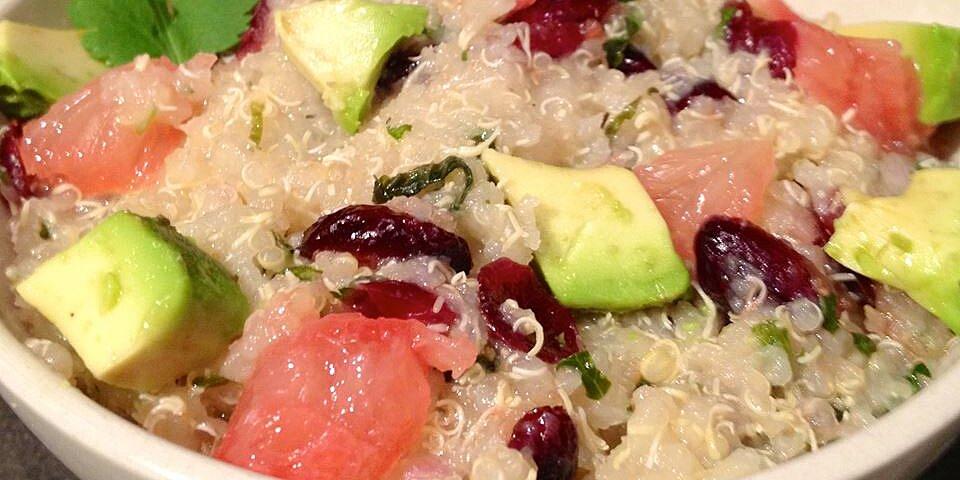 back to quinoa salad with grapefruit avocado and arugula recipe