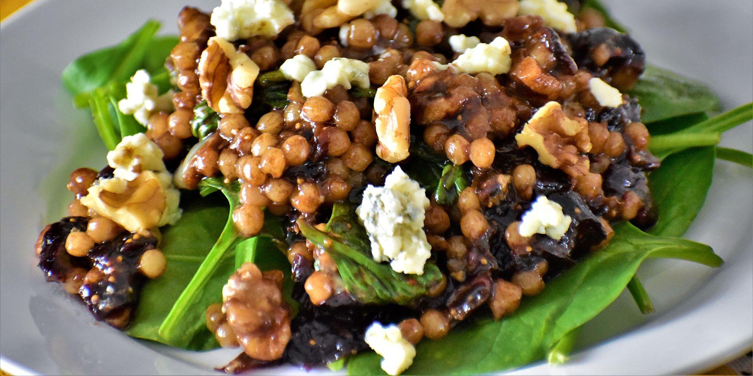fig and gorgonzola israeli couscous salad recipe