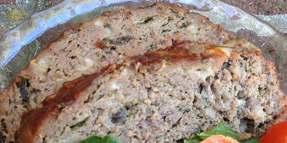 heavenly meatloaf with blue cheese mushrooms and spinach