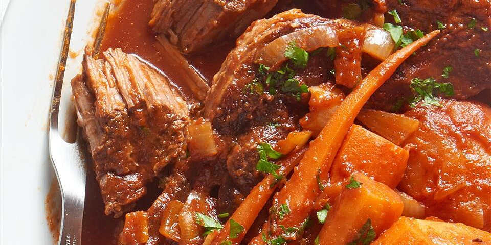slow cooker sweet and sour pot roast