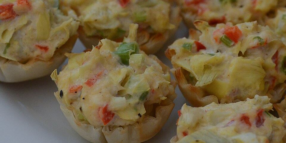 crab and artichoke tarts recipe