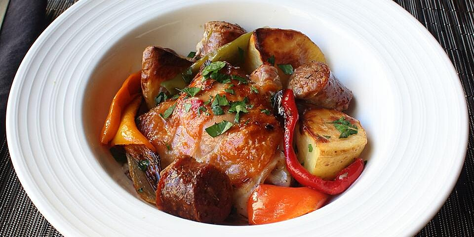 chicken sausage peppers and potatoes recipe