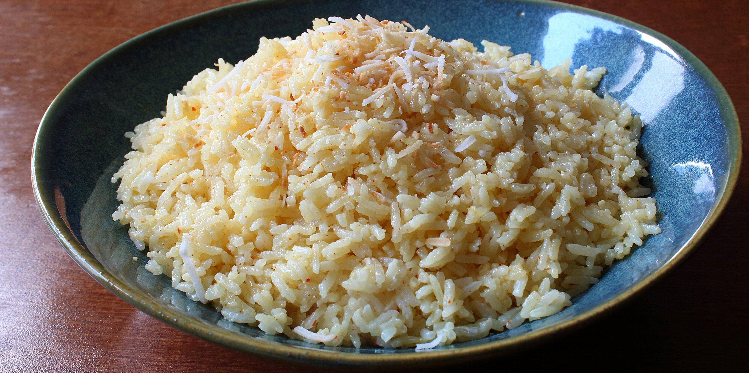 savory coconut rice recipe