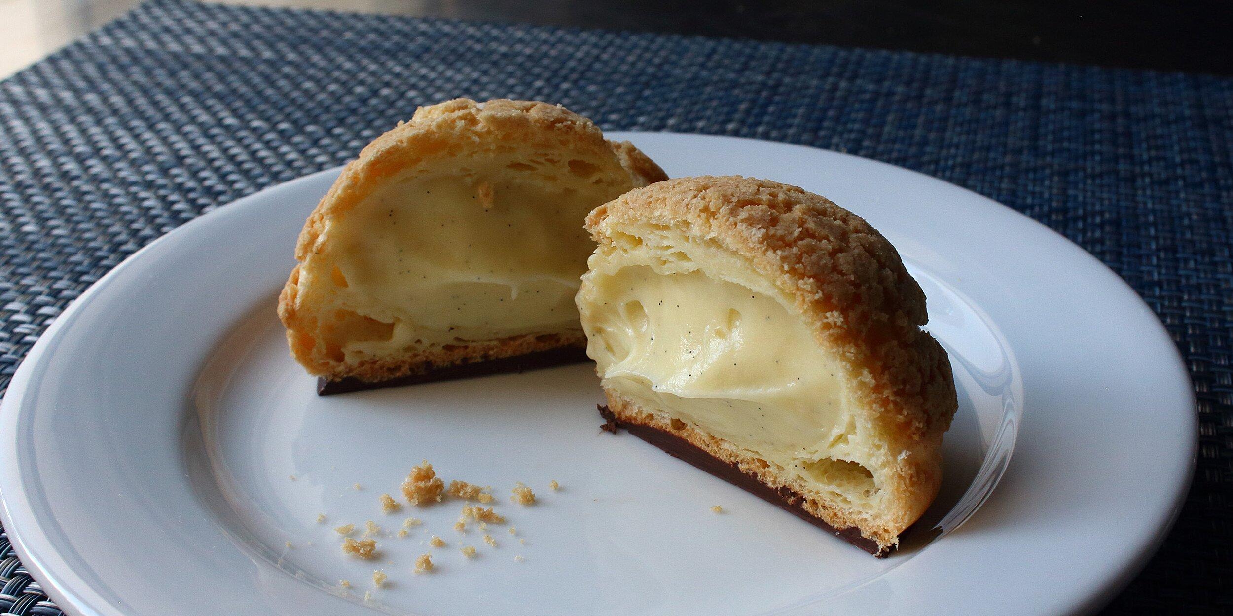 cream puff crack buns choux au craquelin recipe