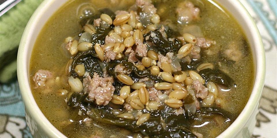 turkey sausage barley soup recipe