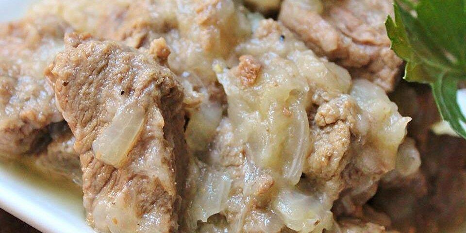 back to egyptian lahma bil basal beef in rich onion sauce recipe