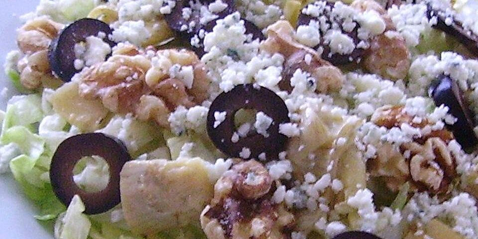walnut blue cheese artichoke salad recipe