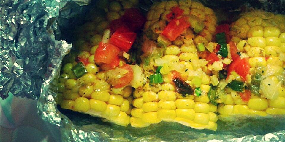 herbed butter corn cobs in parchment recipe