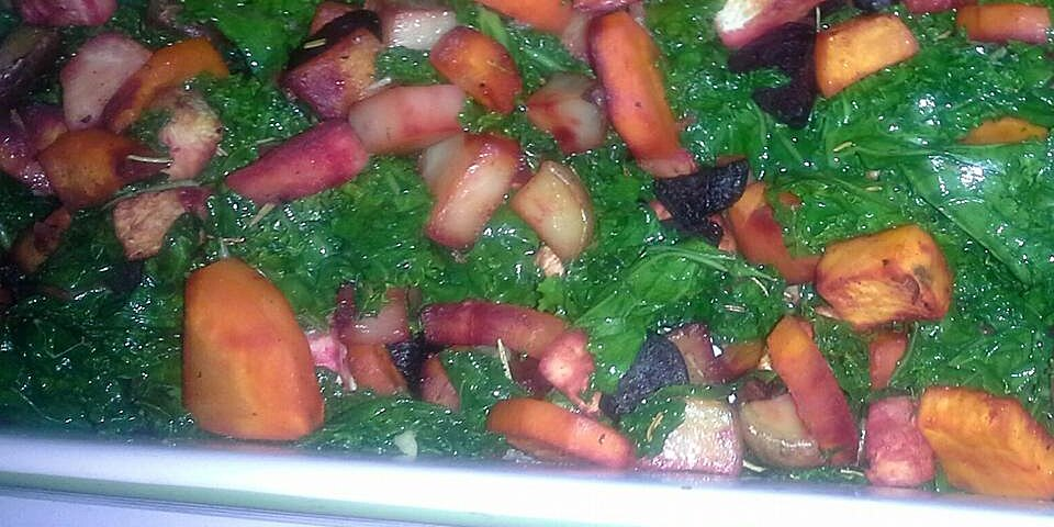 roasted root vegetables with kale recipe