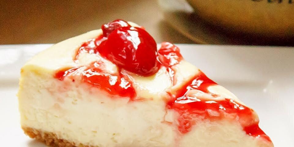 philadelphia new york style strawberry swirl cheesecake