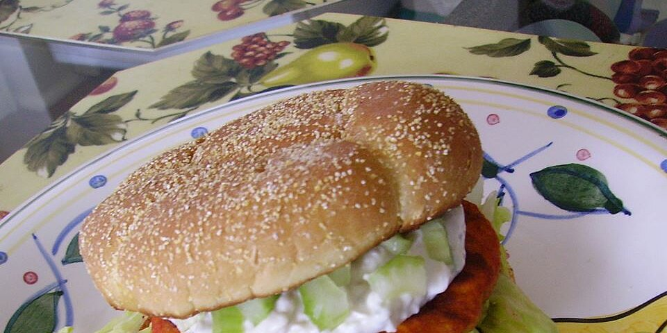 back to buffalo chicken burgers with blue cheese dressing recipe