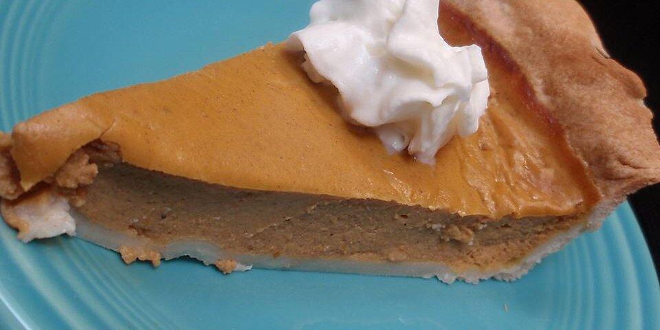 sugarless pumpkin pie ii recipe