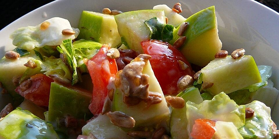 apple and sunflower seed salad recipe