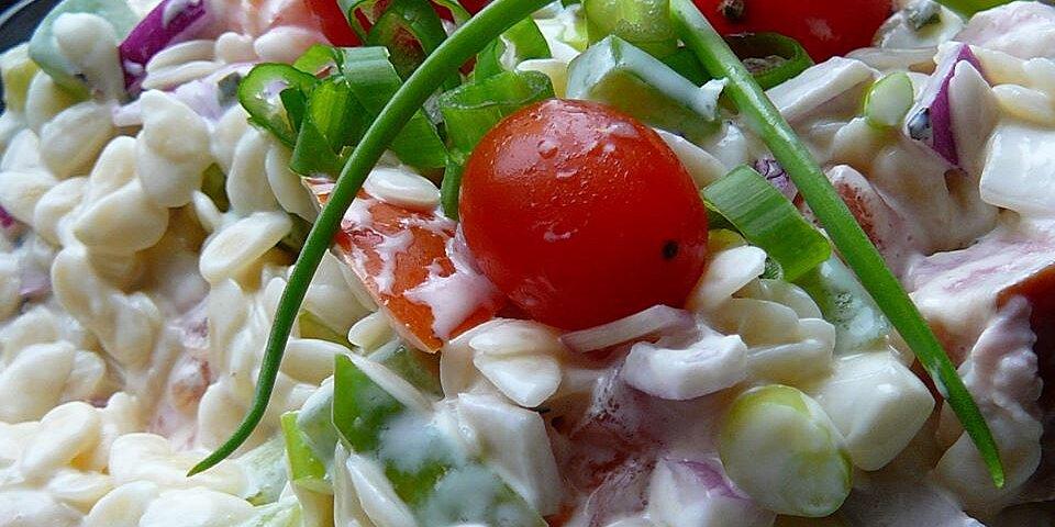 orzo ham salad recipe