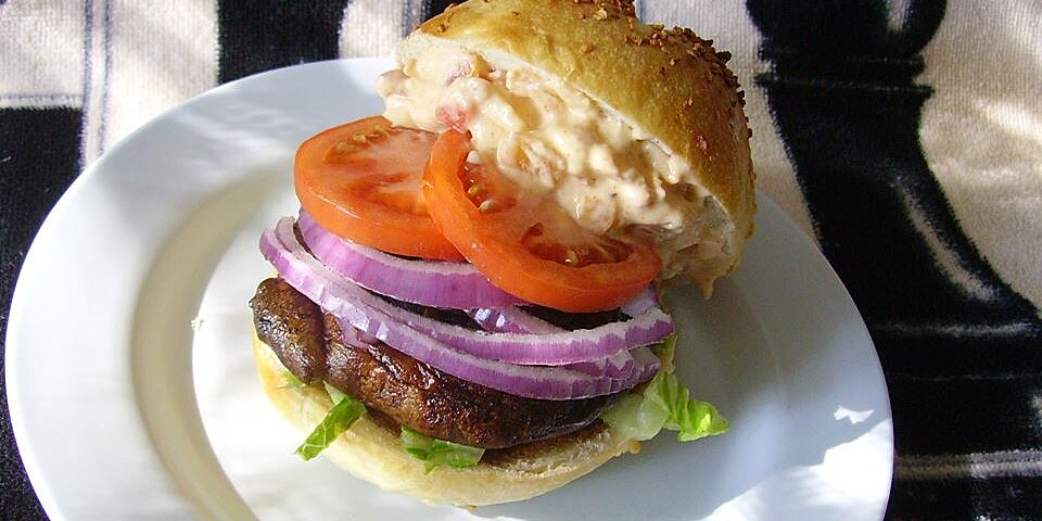 portabella mushroom burgers with red pepper mayonnaise recipe