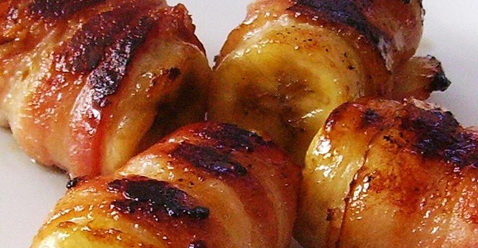 Bacon Wrapped Bananas