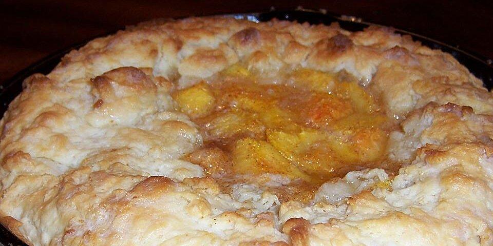 skillet peach pie recipe