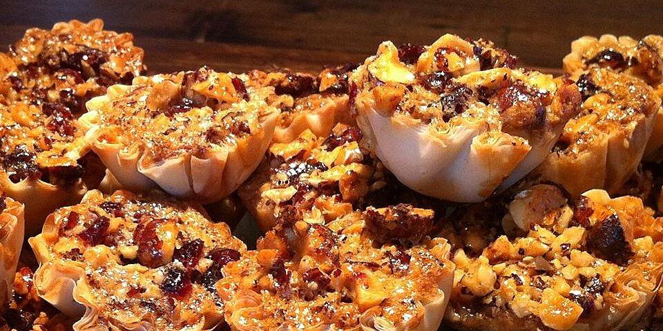 holiday cranberry hazelnut tarts recipe