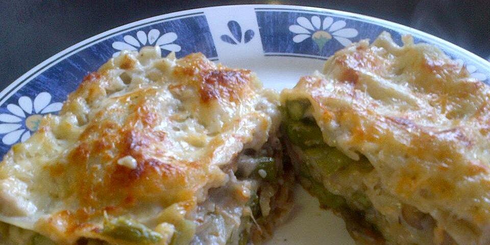 roasted asparagus and mushroom vegetarian lasagna recipe