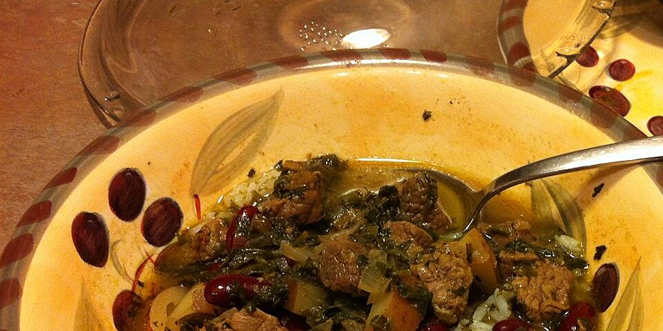 not quite persian ghormeh sabzi green stew for the slow cooker
