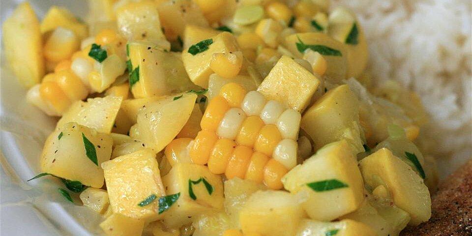 yellow squash and corn saute recipe