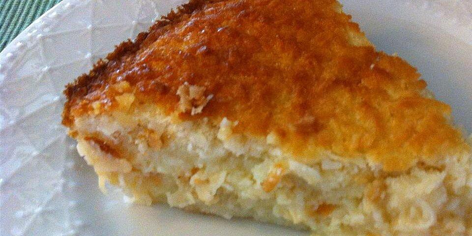 no crust coconut pie recipe