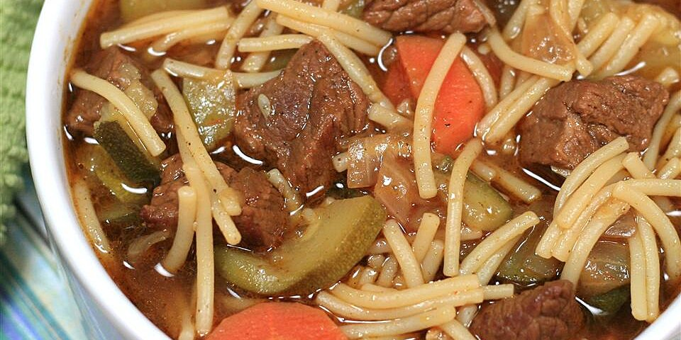 peruvian beef noodle soup sopa criolla recipe