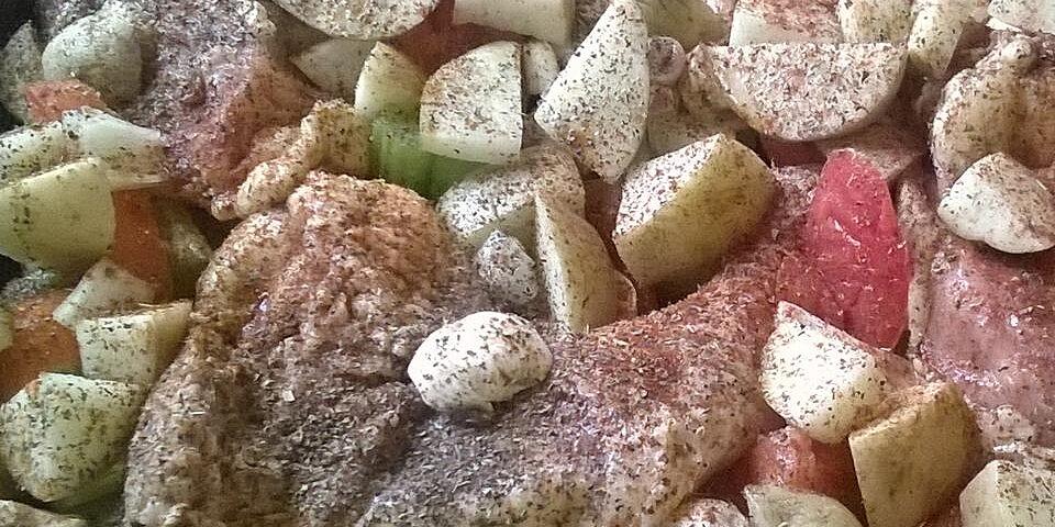 veggie oven chicken recipe