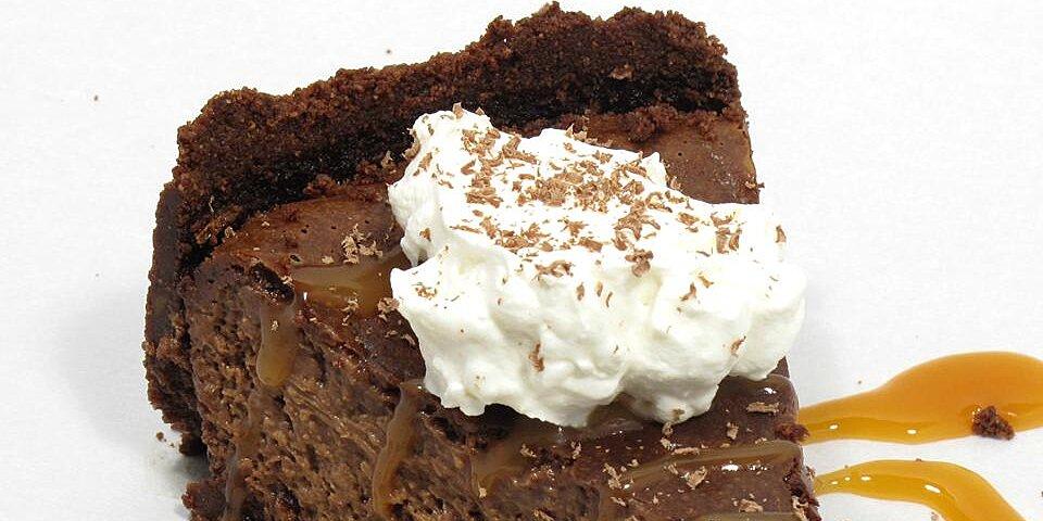 baked chocolate caramel cheesecake recipe