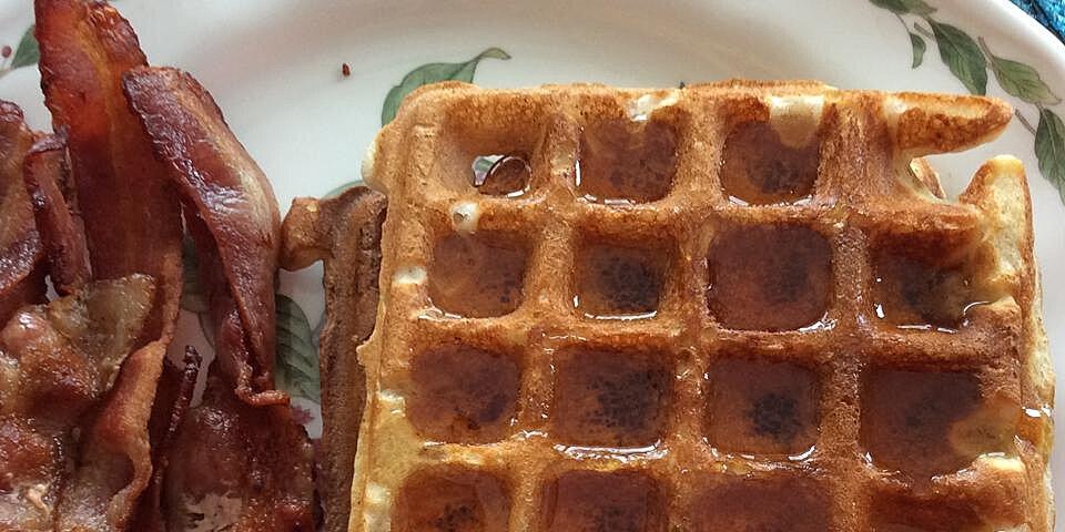 whole wheat coconut oil waffles recipe