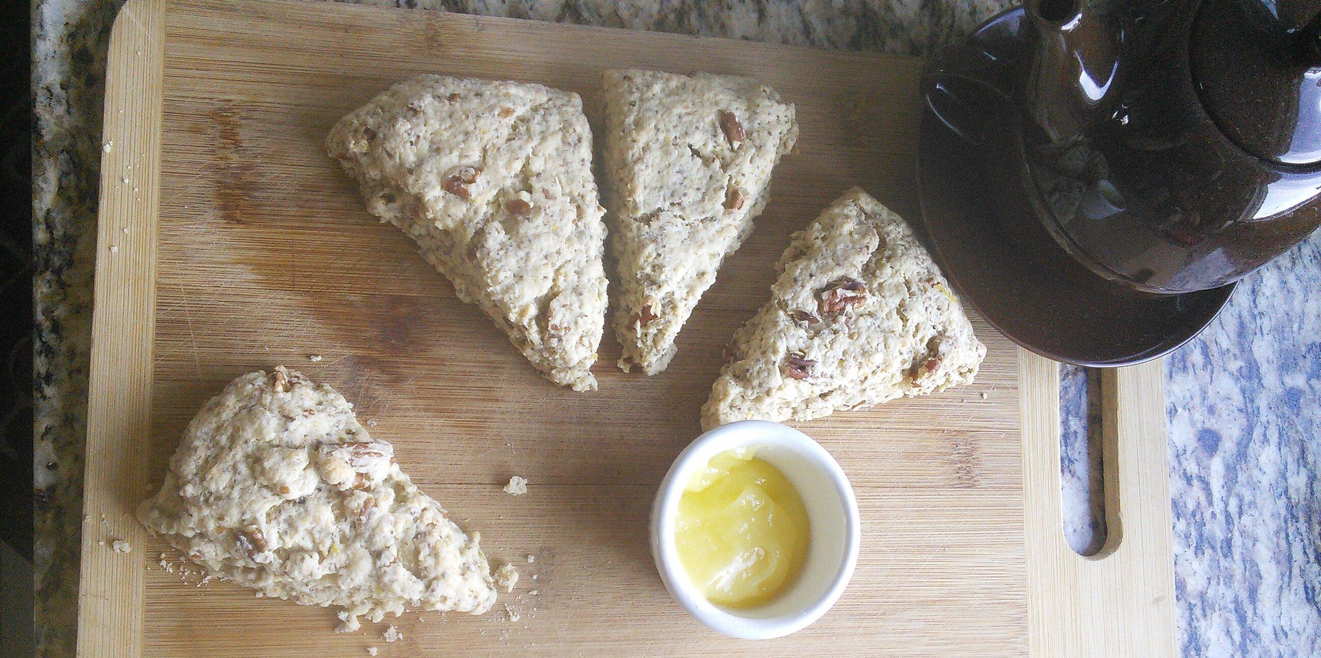 pecan lemon ginger hemp and chia scones recipe