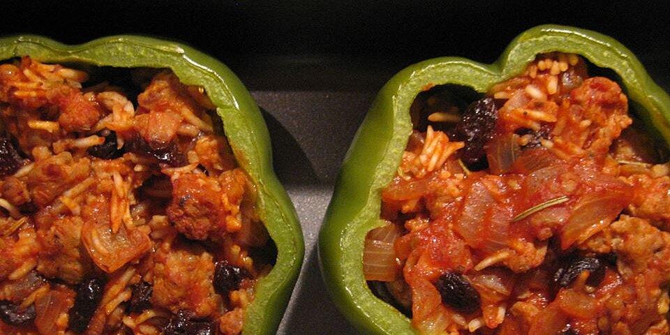 greek style stuffed peppers recipe