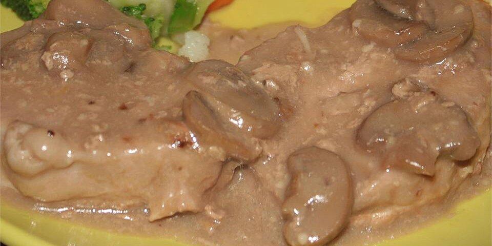 creamy drunken mushroom pork chops recipe