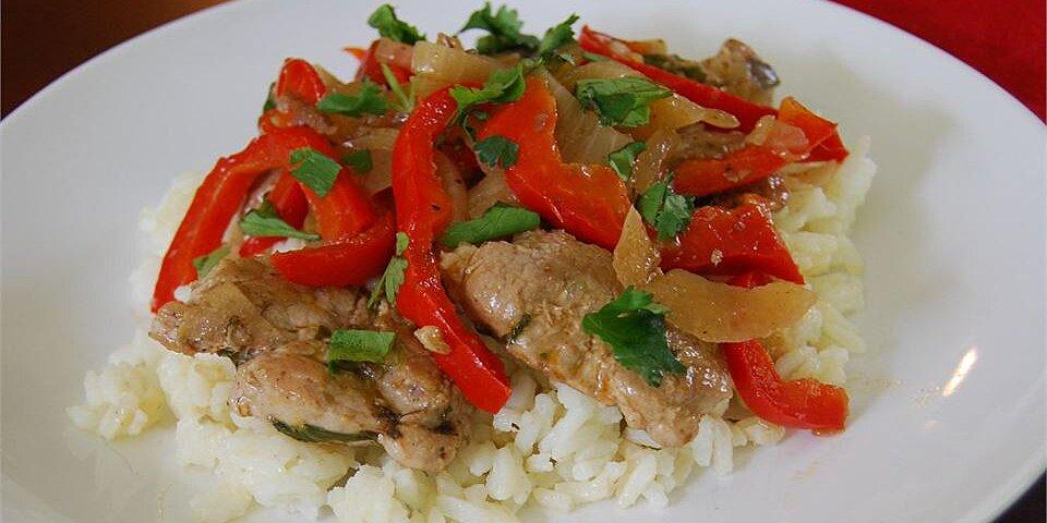cilantro and pork stir fry recipe