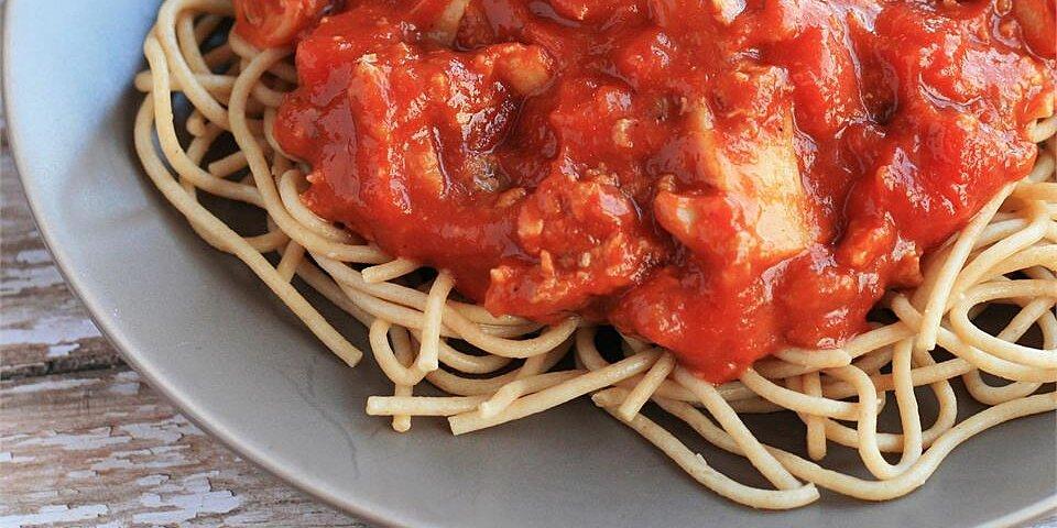 easy spaghetti with tomato sauce