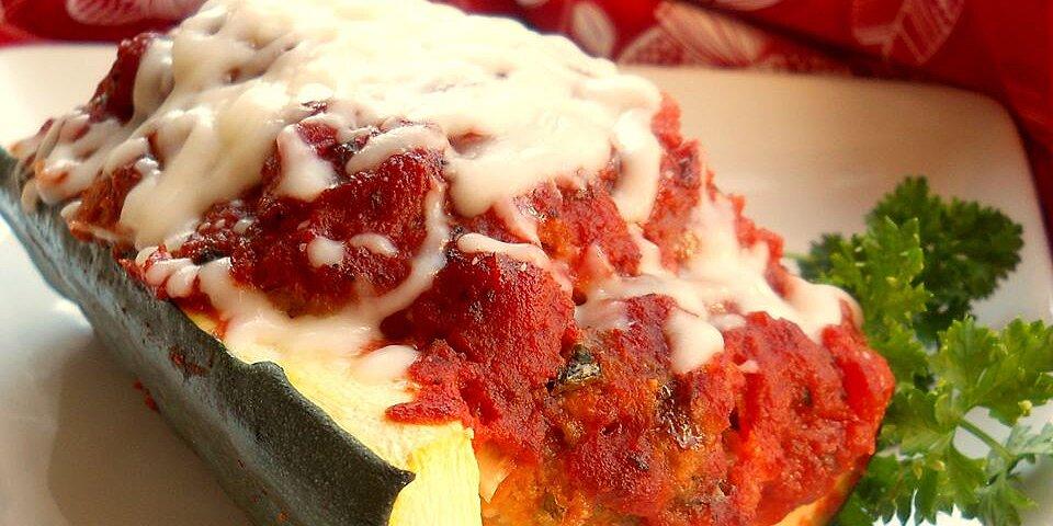 italian meatloaf in zucchini boats recipe