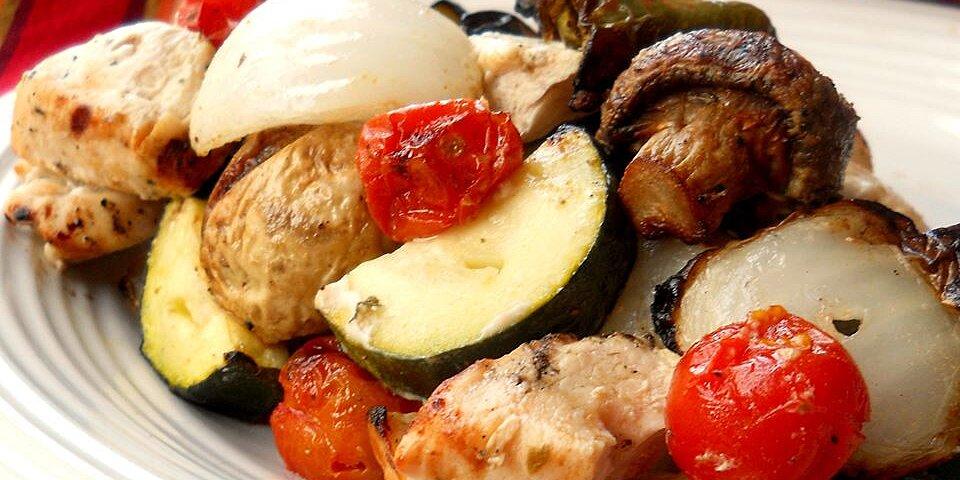 greek island chicken shish kebabs recipe