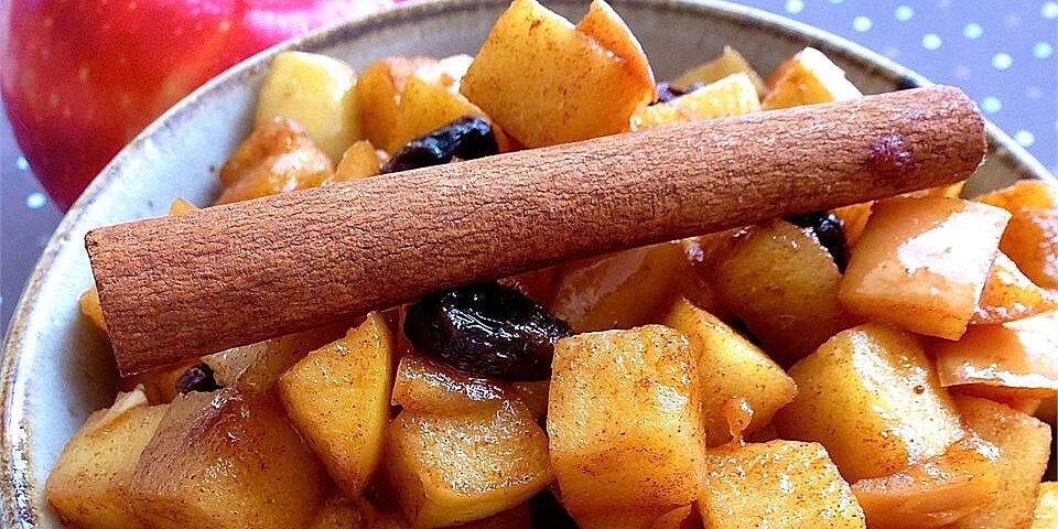 bourbon fried apples recipe