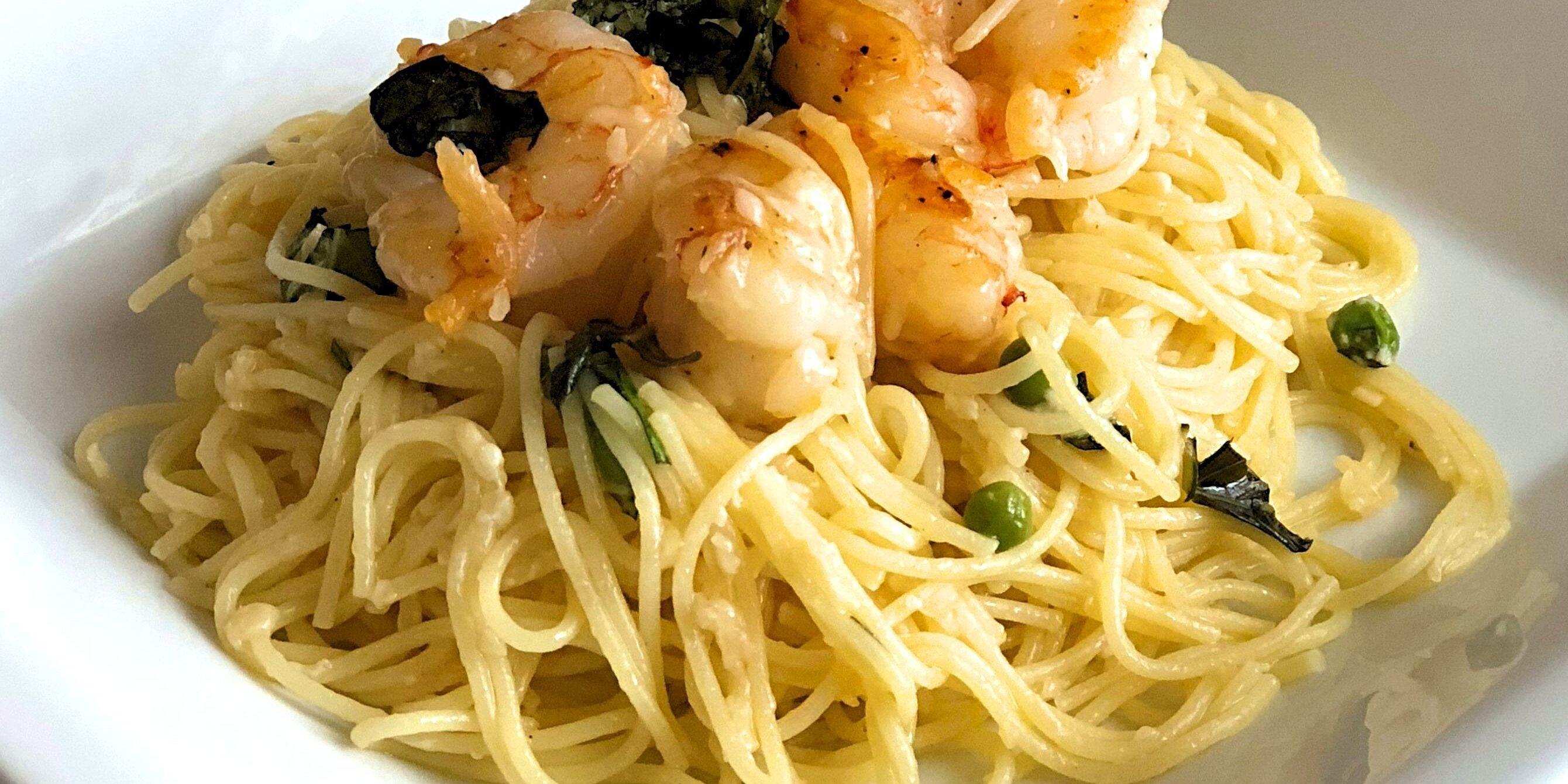 last minute lemon spaghetti and shrimp recipe
