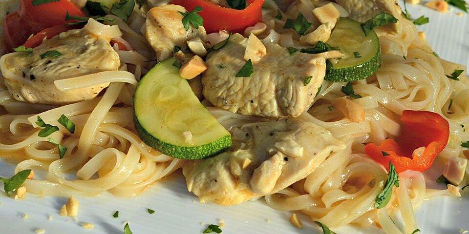 one pot thai style rice noodles recipe