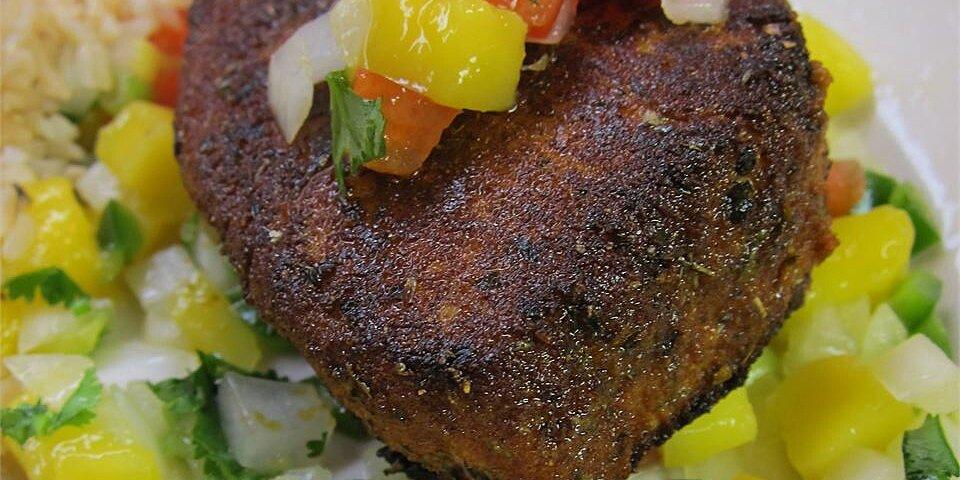 blackened tuna steaks with mango salsa recipe