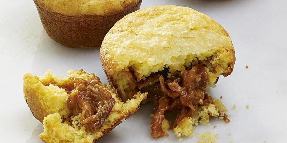 bbq pork stuffed corn muffins