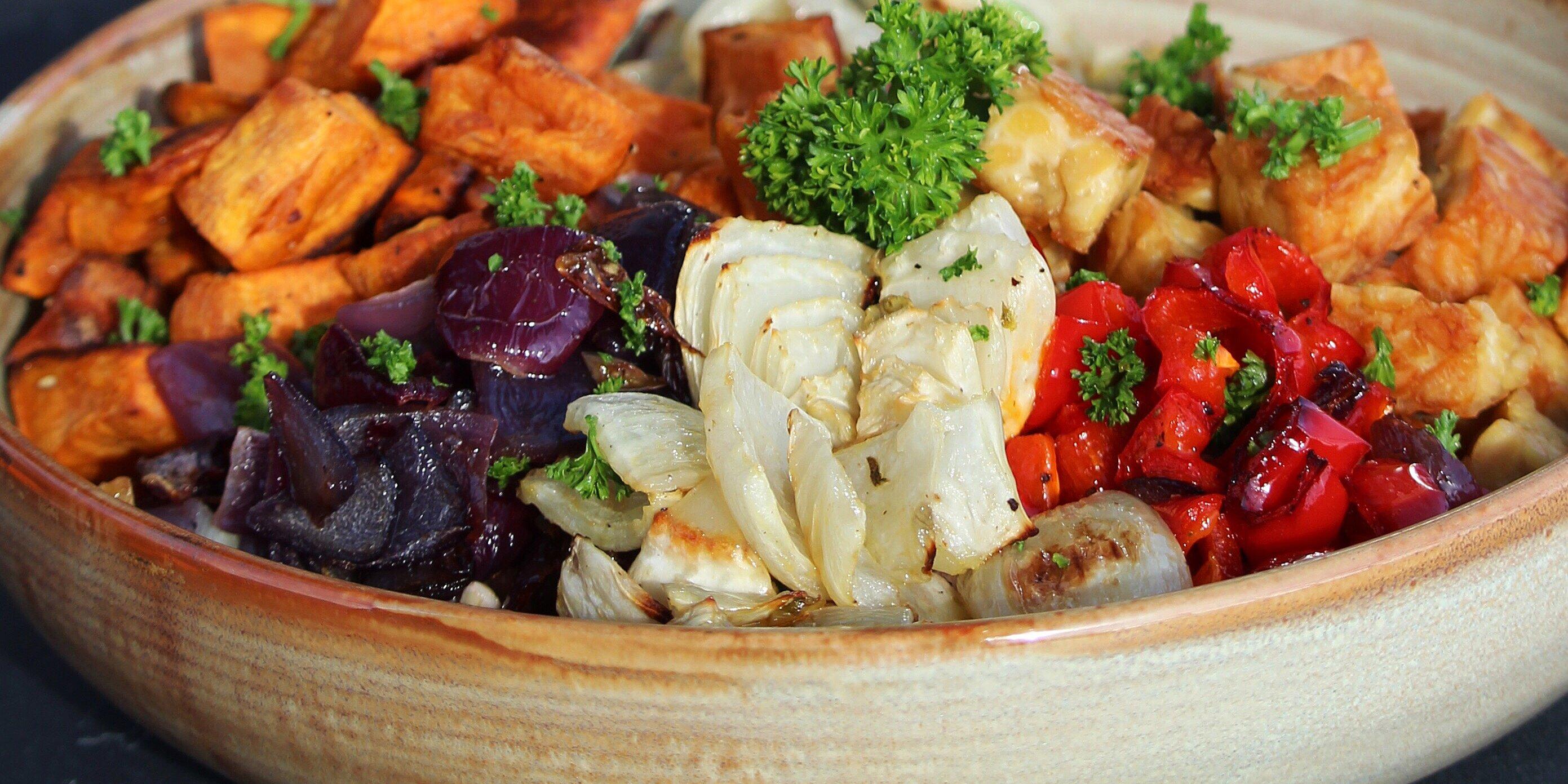 roasted veggie buddha bowl recipe