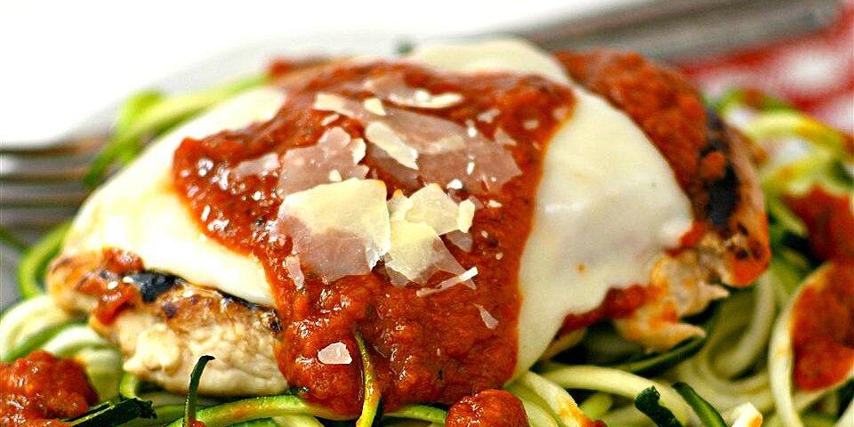 chicken parmesan with zucchini pasta recipe
