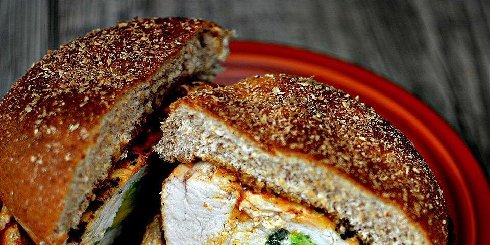 spicy grilled stuffed chicken breast sandwich recipe