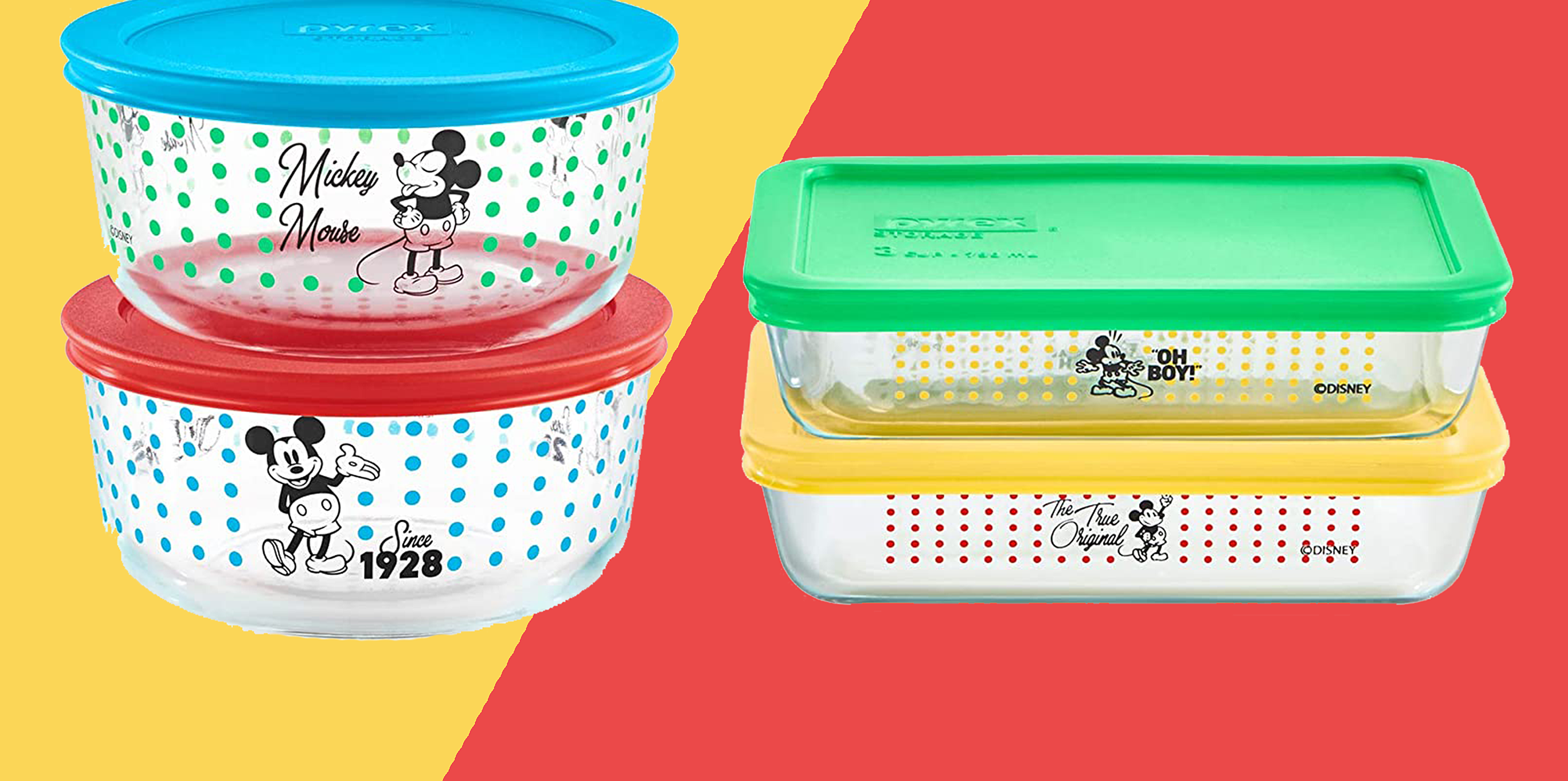 pyrex mickey mouse food storage containers on amazon