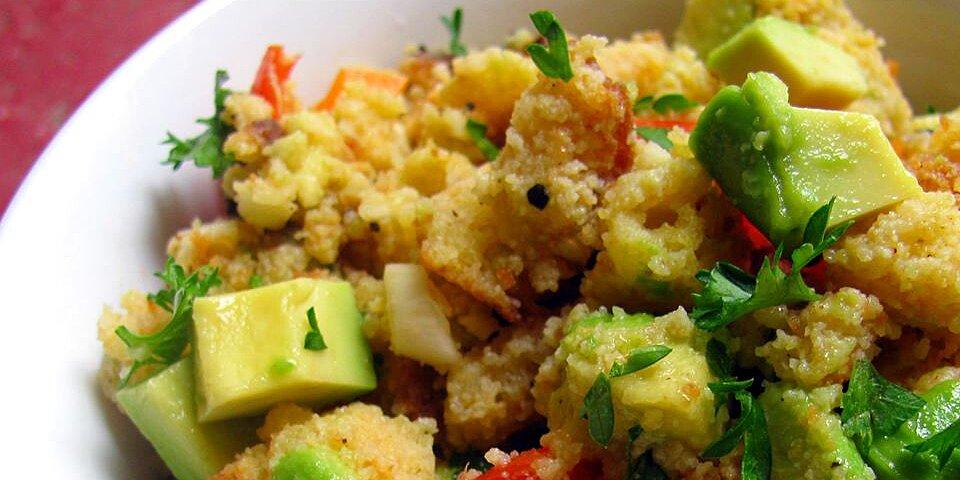 back to tomato cornbread salad with avocado and cilantro recipe