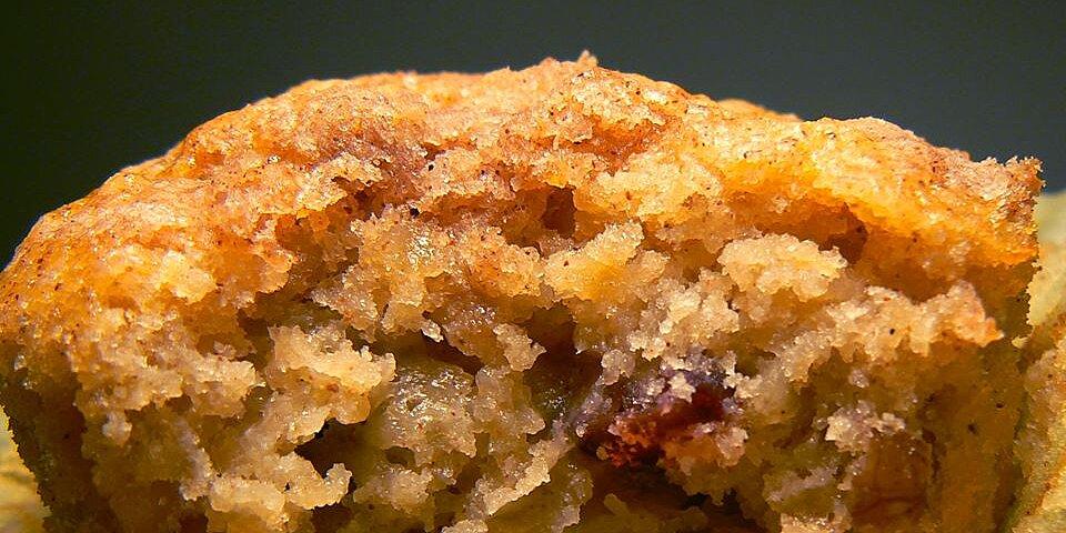 jumbo fluffy walnut apple muffins recipe