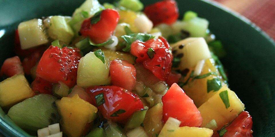 spicy strawberry kiwi peach salsa recipe