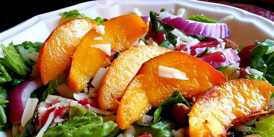 peach salad with raspberry vinaigrette recipe